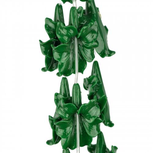 Collana Bijoux Con Pietre Perle E Cristalli Multifolo 50cm MOD3 Grigio