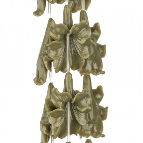 Collana Di Cristalli A Grappoli 56cm
