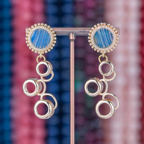 Collana Di Ametista, Ematite E Perle Di Fiume 53-58cm