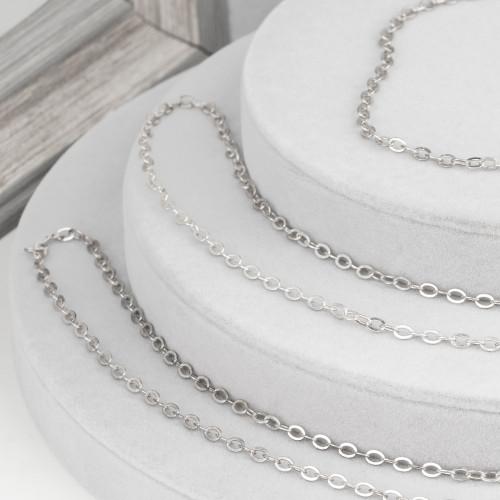 Collana Di Pietre Dure E Perle Di Fiume Con Laterale Con Strass Marcasite - Giada Rubellite