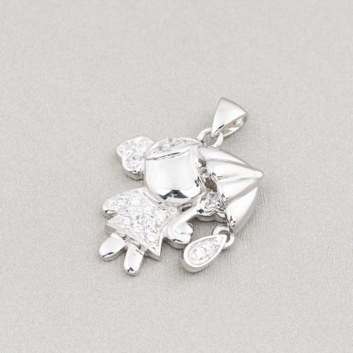 Collana Di Cristalli Cz A Cascata - Lunghezza Interna 44-50cm MOD5