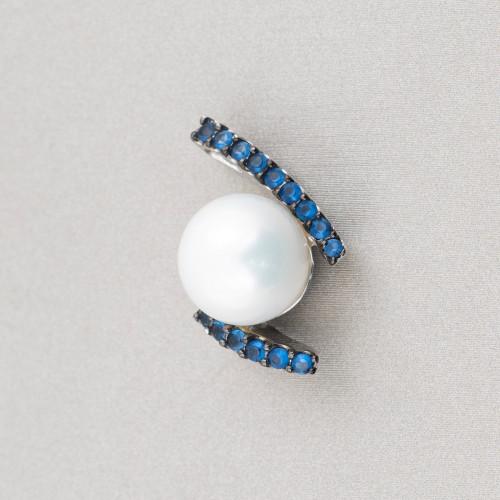 Collana Di Pietre Dure A Cornetto Con Chiusura In Ottone 50cm