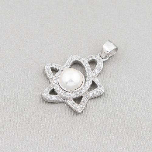 Collana Di Pietre Dure E Cristalli Con Chiusura di Ottone 50cm