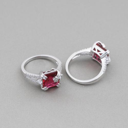 Collana Bijoux Con Pietre Cristalli e Ematite 56-70cm MOD4 Rosso