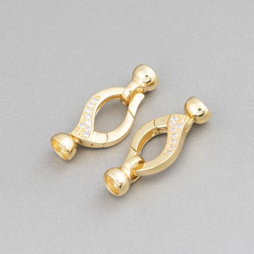 Collana Di Perle Di Maiorca Con Cristalli A Nodini 85cm MOD2