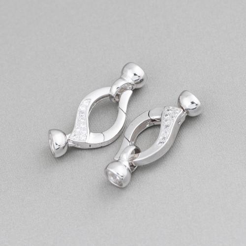 Collana Di Perle Di Maiorca Con Cristalli A Nodini 85cm MOD4