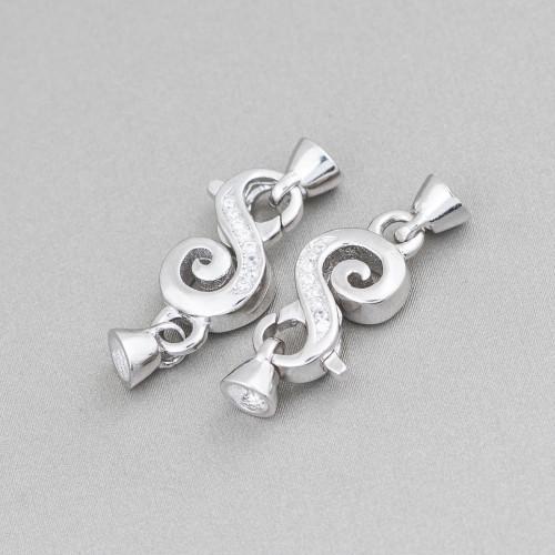 Collana Di Pietre Dure A Goccia E Sfere Con Perle Di Fiume Con Nodini 160cm