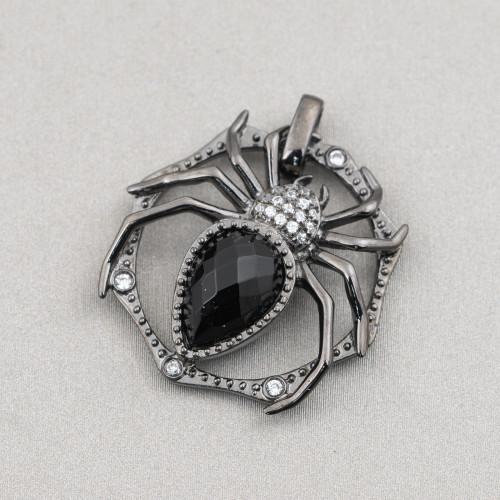 Collana Di Pietre Dure Riso E Sfere Con Cristalli A Nodini 160cm MOD4