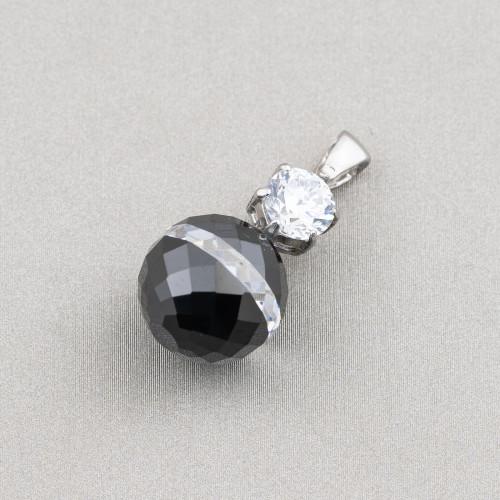 Chiusura Di Argento 925 Con Zirconi Delfino 16x19mm 2pz Rodiato Occhio Ruby