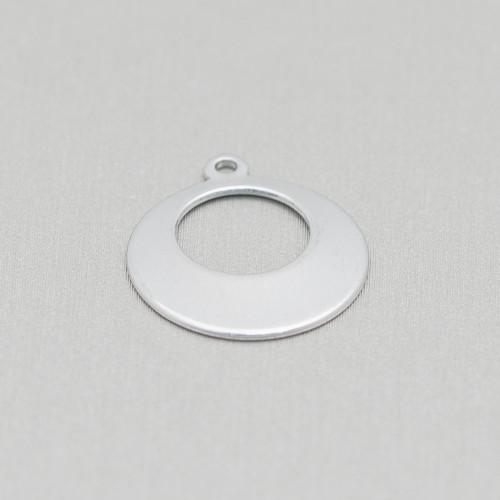 Base Per Orecchini Di Argento 925 Con Zirconi Monachella A Cerchietto 7x18mm 3 Paia Rodiato