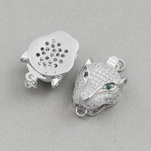 Collana Di Cristalli Cz A Grappoli Con Centrale - Lunghezza Interna 70cm MOD2
