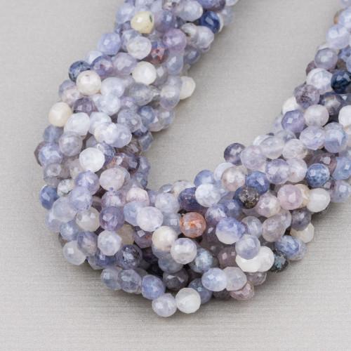 Collana Di Perle Di Fiume Con Cristalli E Pietre Dure 4 Fili 80cm