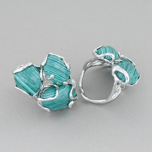 Collana Di Pietre Dure A Sassi E Perle Di Fiume Pepite Annodate Con Elementi Di Occhio Di Gatto 88cm MOD2