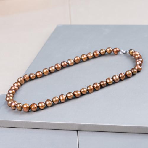Perle di Fiume Potato 5,5-6,0mm AA Bianco Lucido
