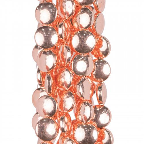 Catena Di Acciaio Forzatina Liscia 1,6x1,8mm Filo 0,4mm 20 Metri Oro Rosa