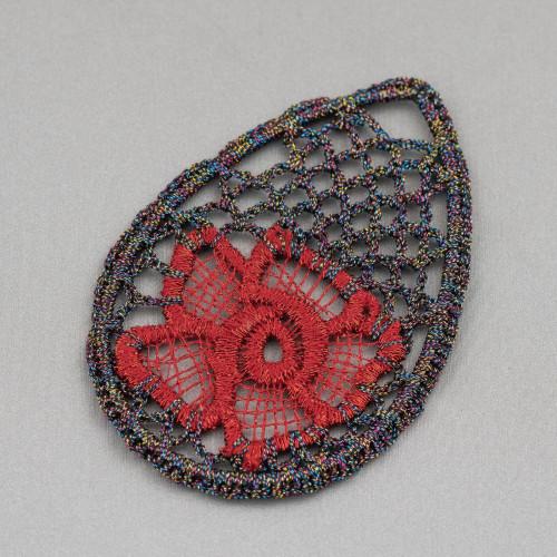 Orecchini A Monachella Di Argento 925 Con Perle Barocche Piatte E Perline A Grappolo Con Occhio Di Gatto 22x60mm