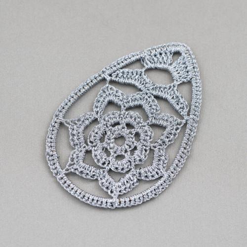 Orecchini A Monachella Di Argento 925 Con Perle Barocche Piatte E Perline A Grappolo Con Occhio Di Gatto 22x60mm MOD3