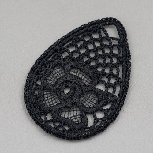 Orecchini A Monachella Di Argento 925 Con Perle Barocche Piatte20-23mmx32-38mm