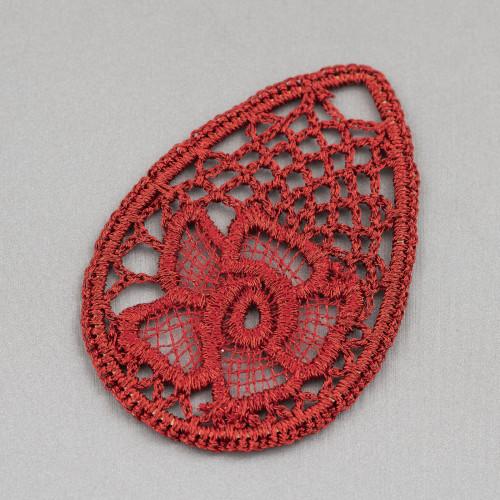 Orecchini A Monachella Di Argento 925 Con Perle Di Fiume Barocche Piatte 18-22mmx45-55mm