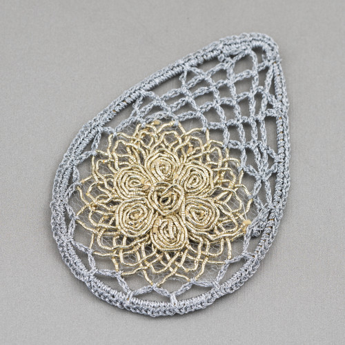 Orecchini A Monachella Di Argento 925 Con Perle Di Fiume Barocche Piatte 18-22mmx45-55mm Oro Rosa