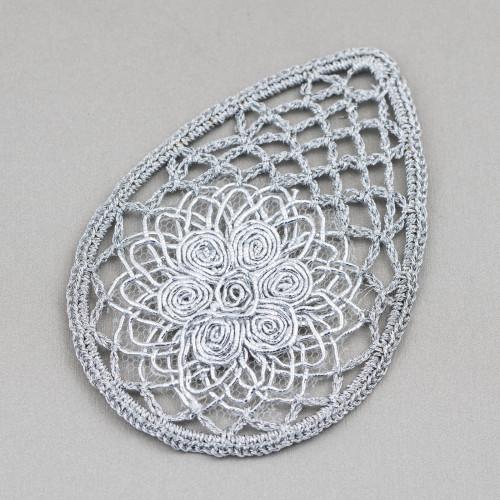 Orecchini A Perno Di Argento 925 Con Perle Di Fiume Barocche Piatte 12-15mmx42-46mm
