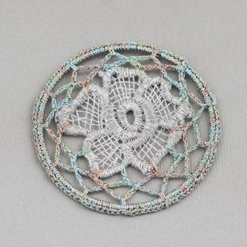 Orecchini Di Argento 925 E Madreperla A Perno Con Cristalli E Perle Di Fiume 14x50mm MOD3