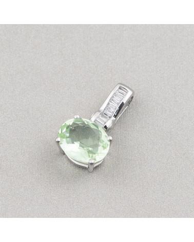 Componente Pendente Di Ottone Con Madreperla Mosaico Con Perline Tondo 32mm