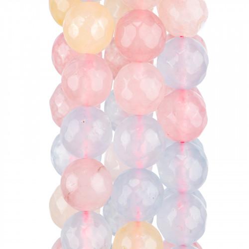 Quarzo Multicolor Ametista Citrino Prenite Quarzo Rosa Tondo Liscio 12mm