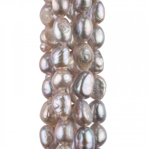 Orecchini A Monachella Di Argento 925 Con Giada Coreana Blu Forme 10x65mm