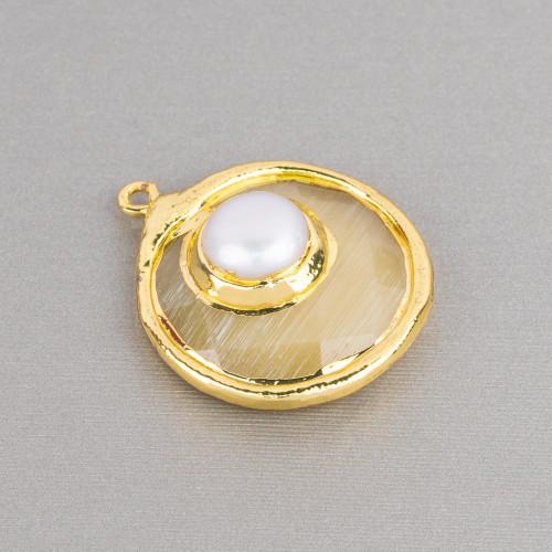 Perle di Maiorca Turchese Barocca Irregolare 18x24mm
