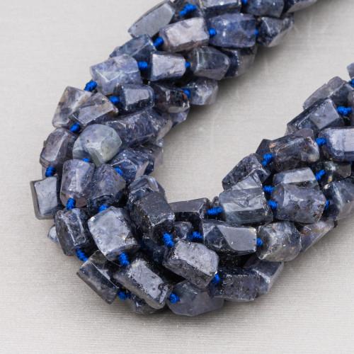 Labradorite Marrone Rettangolo Piatto Sfaccettato 13x18mm