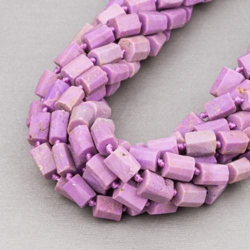 Labradorite Marrone Rettangolo Piatto Sfaccettato 18x25mm