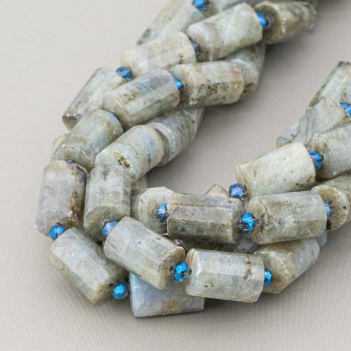 Labradorite Marrone Rettangolo Piatto Sfaccettato 30x40mm