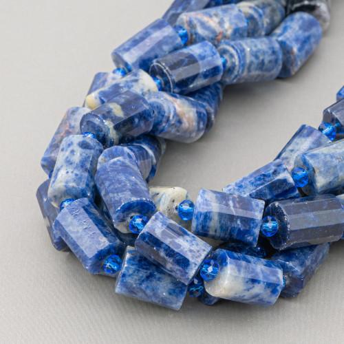 Quarzo Cipria Rondelle Sfaccettato 18x13mm
