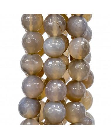 Chiusura In Argento 925 E Pietre Dure Quadrato Sfaccettato 40mm - Agata Indiana
