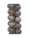 Chiusura In Argento 925 E Pietre Dure Tondo Sfaccettato 40mm - Avventurina Rossa (Eosite)