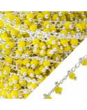 Collana Di Cristalli Misti E Catena Di Alluminio - Cristallo Bianco