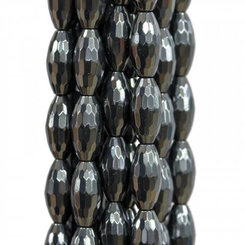 Componente Di Giada Burma Lavanda Rombo Forato 30x45mm 2pz