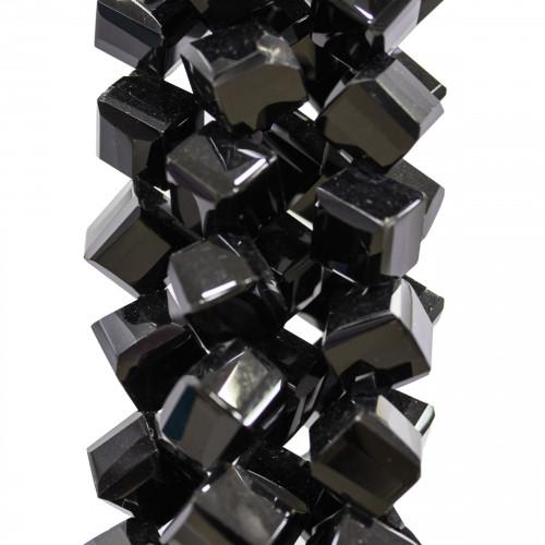 Componente Di Pietre Dure Quadrato Barocco Forato 45mm 2pz Quarzo Grigio