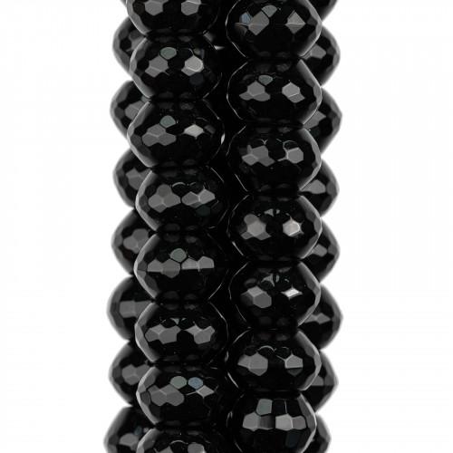 Componente Di Resina E Madreperla Tondo Creola 70mm 4pz Nero E Beige