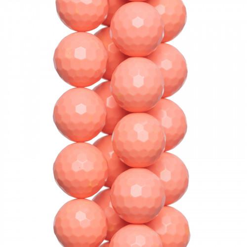 Componente Di Resina Rombo 42x68mm 4pz - Arancio