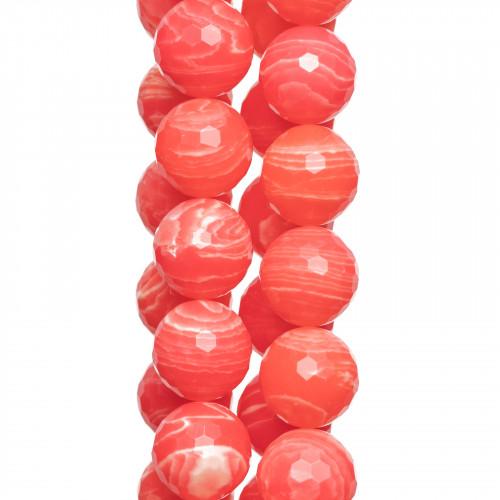 Componente Di Resina Tondo Piatto Inciso 15mm 10pz Rosso