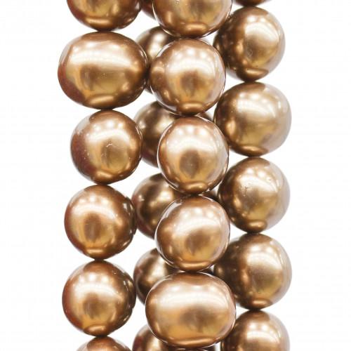Componenti Di Ottone Con Zirconi Ovale 12x15mm 10pz Rodiato