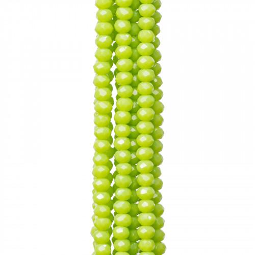 Giada Peridoto Gocce Piatto Sfaccettato 12x16mm