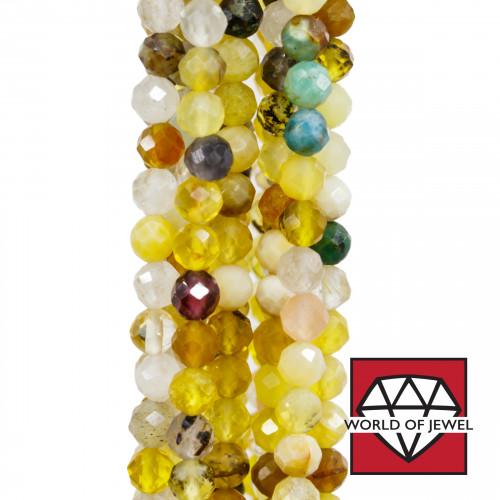 Giada Smeraldite Rondelle Sfaccettate 3,5x2mm