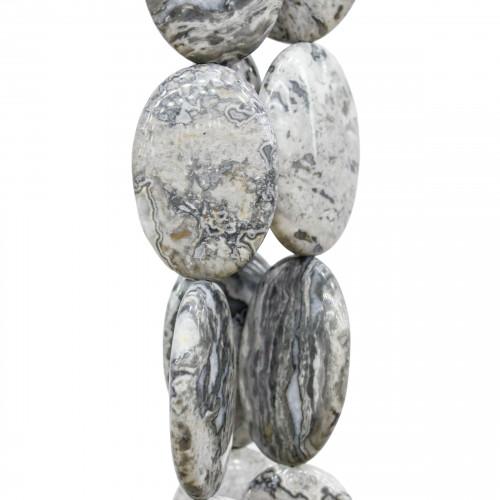 Goccia Di Ceramica Con Strass Mideast Mezzoforo 11x18mm 1pz - Bianco/Nero