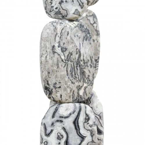 Goccia Di Ceramica Con Strass Mideast Mezzoforo 11x18mm 16pz - Bianco/Blu