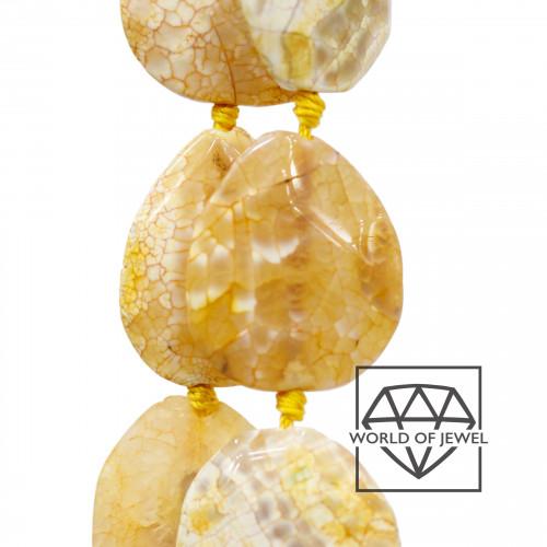 Goccia Di Ceramica Con Strass Mideast Mezzoforo 11x18mm 16pz - Bianco/Turchese