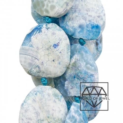Goccia Di Ceramica Con Strass Mideast Mezzoforo 11x18mm 16pz - Blu