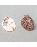 Labradorite Nero Larichite Tondo Liscio 04mm